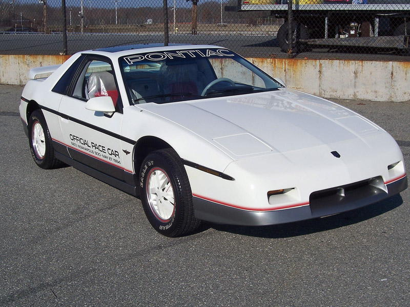 Buy new 1984 Pontiac Fiero Pace Car. Only 171 original ...